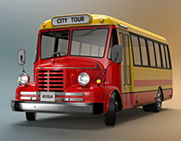3D Modeling of bus (front bumper customizing)