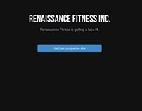 Renaissance Fitness Inc. Landing Page