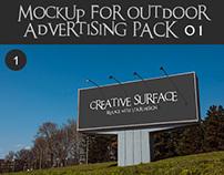 Outdoor advertising Mockup's