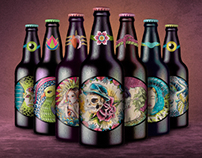 Beer Label Desing & Bottle Mock-up