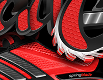 Adidas Spring Blade Typography