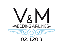 Wedding Project inspired by the airlines.