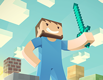 Minecraft Illustration for e-book cover