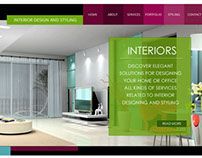 Interior Design Website - Single Page