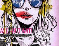 Stache Magazine: All Out Art Issue Illustration
