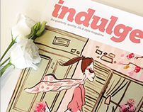 Indulge Magazine Illustrated Cover