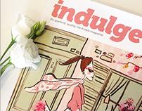 Indulge Magazine Illustrated Cover