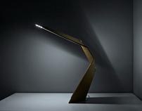 Daru - cardboard desk led light for Leaf Difference
