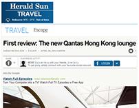 HERALD SUN - QANTAS HONG KONG LOUNGE