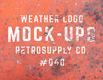 12 Weathered Mock-Ups (and Free Logos)