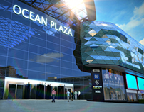 3D animation of Ocean Plaza shopping mall