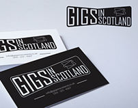 Gigs in Scotland business card mock ups