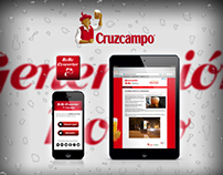 App and web design for the Spanish beer Cruzcampo