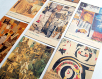 Collage Art & Letters: Brochure + Postcards 1998