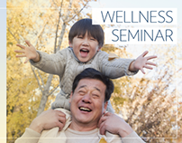 Wellness Seminar video info display ads
