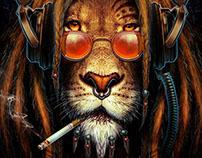 Lion rasta