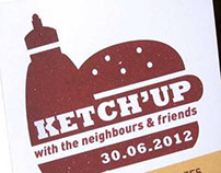 KETCH'UP with the neighbours.