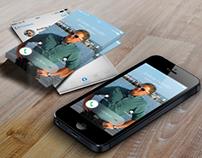 Printable iOS 7, iOS 8 style business card