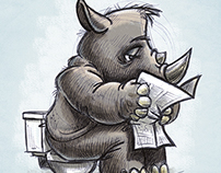 Rhino. Paper. Can.