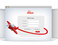 Login page for Mersal company