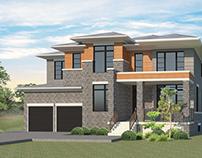 Modern Residential House   Exterior Design  Ontario.