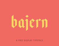 Bajern — A Free Typeface