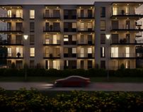 Residential block in Lipno, Poland.