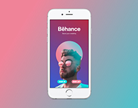 Daily UI #023: Onboarding for Behance app