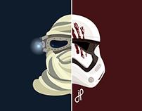Simplistic Starwars Rey & Finn Design