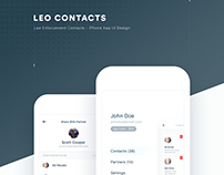 LEO Contacts App UI Design