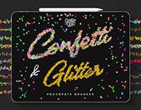 Confetti and Glitter Procreate Brushes Pack