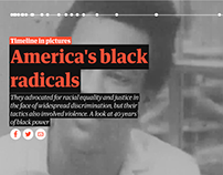 Timeline in pictures: America's black radicals