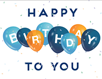 Happy Birthday GIF Email Banner - Amplify Credit Union