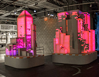Adidas PureBoost Building Projections