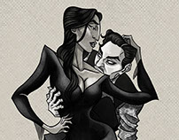 Cara Mia | Gomez and Morticia Addams