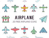 Airplane Vector Free Icon Set