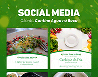 Social Media: Cantina Água na Boca