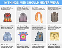 16 things every man should purge from his closet