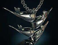 Heliconia pendant