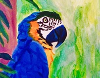 Parrot Painting: First attempt