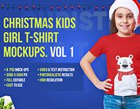 Christmas Kids Girl T-Shirt Mockups