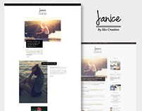 Janice - Plantilla de WordPress para bloggers de Moda