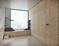 Flush door with hidden frame