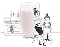 Campina drink-yoghurt campaign