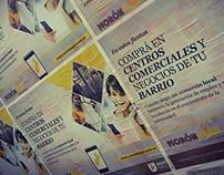 Afiche publiobra para el portal Morón Aquí. Año 2016.