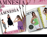 Cover and T-shirt graphics for Amnesia Fashion