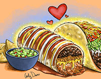 Food Love Illustrations
