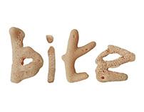 Coral Typography Bite