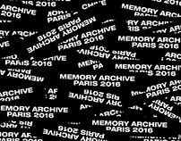 PARIS 2016 - MEMORY ARCHIVE   EDITORIAL DESIGN