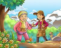 """Ilustrações para o livro """"Momentos com Deus"""" - CPB"""